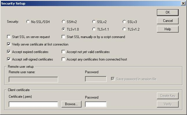Security Setup - SSH/SSL